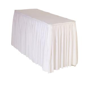 ACCORDION PLEAT TABLE SKIRT - WHITE