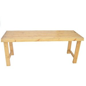RECTANGLE WOOD TABLE NATURAL 200X75 cm
