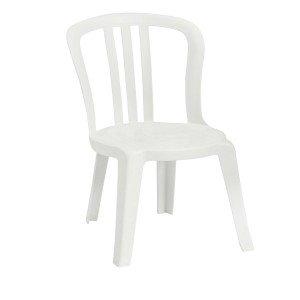 PLASTIC BISTRO CHAIR - WHITE