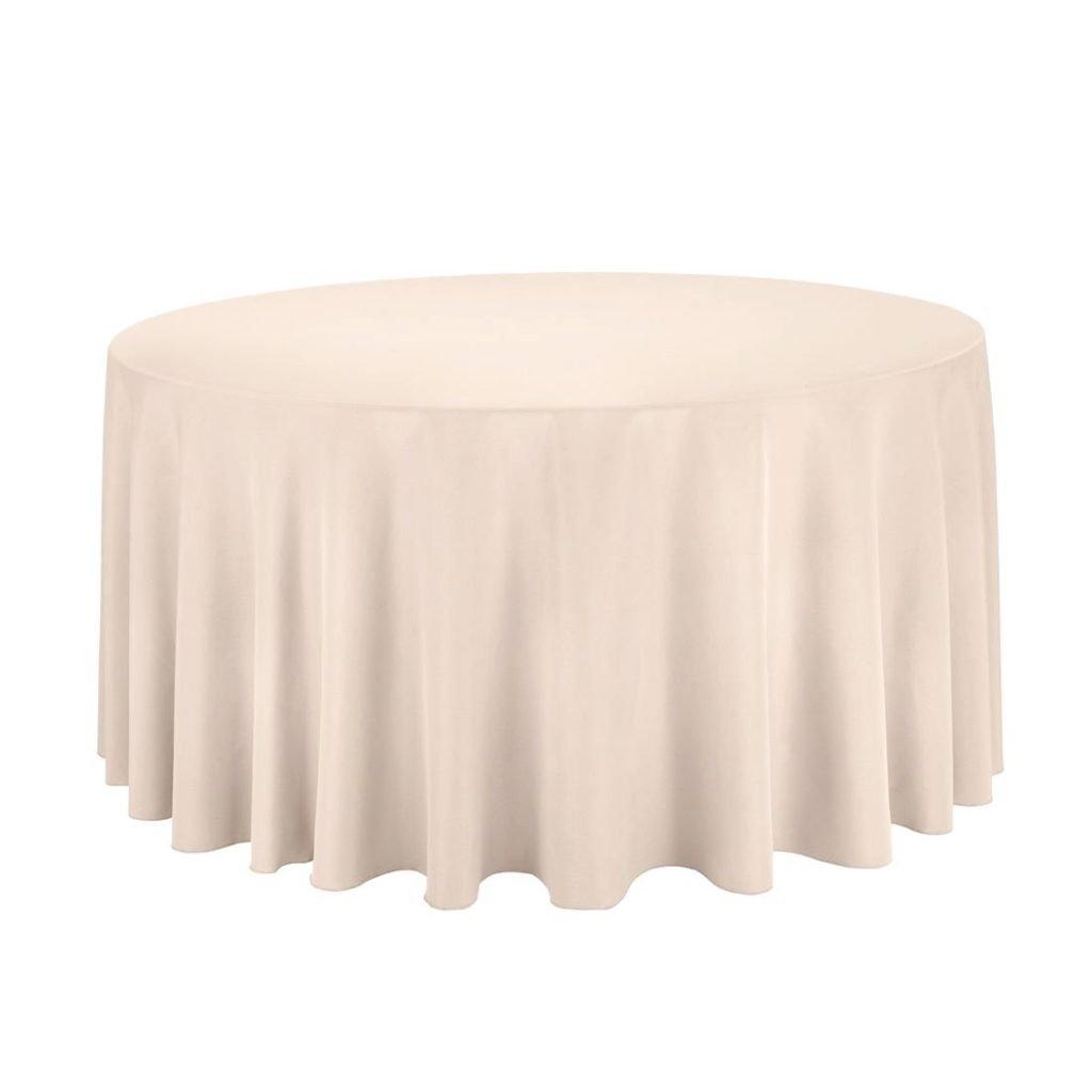 Round Tablecloth-Mocha-beige