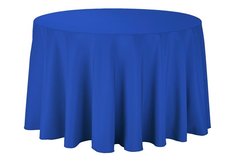 Round Tablecloth-Royal Blue